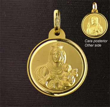 a2db84434 Medalla Escapulario 9-5. Oro 18Kts. – Joyería Iberjoyanet.NET